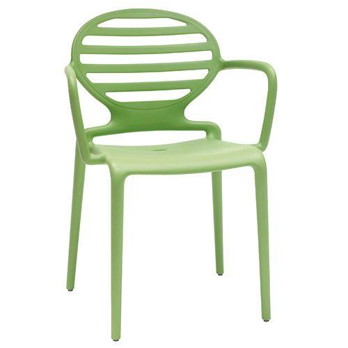Sillón Cokka polipropileno verde