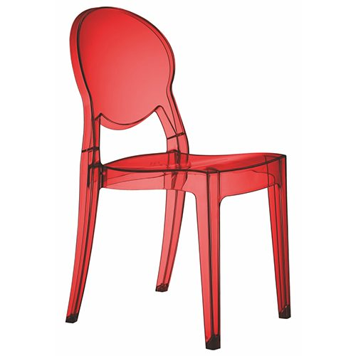 Silla Igloo policarbonato rojo transparente