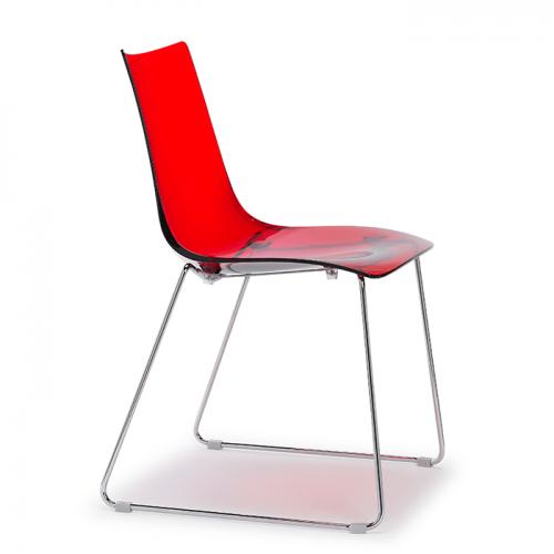 silla-zebra-antishock-transparente-rojo